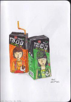 OISHI Drink ! #jbiiiz #drawing #painting #illus #watercolor
