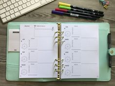Vue hebdomadaire - Planner 2018 à colorier et à personnaliser version #recharge #a5planner 6 trous pour vos #filofax #kikkik #primaplanner #dokibook #jemorganise #weeklylog #weeklyplaninserts #weeklyplanner #weekly