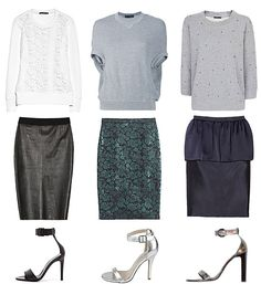 How to Wear a Pencil Skirt and Sweatshirt