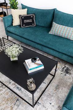 Iron black livingroom table in a modern ourban livingroom Iron, Couch, Living Room, Modern, Table, Furniture, Black, Home Decor, Settee