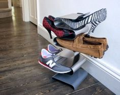 j-me Nest Wall Shoe Rack – Shoe organiser Keeps Shoes, Boots, Trainers and Sandals Off The Floor. A Great Wall Mounted Shoe Storage Solution For Your Hallway or Wardrobe.