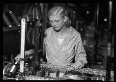 "Tinsel factory!  ""Woman with Machine"" (tinsel) by Lewis W. Hine, 1920. George Eastman House Collection"