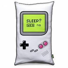 ALMOFADA CRIATIVA GAMER BOY - SLEEP YES OR NO | Gamers de plantão não podem deixar de incrementar a decoração com essa almofada | Veja esse e outros objetos de decoração criativa em Loja das Pequenas Felicidades                                                                                                                                                                                 Mais