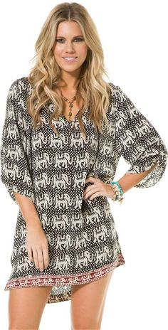 TOLANI SARAH ELEPHANT TUNIC  Womens  Clothing  Dresses | Swell.com