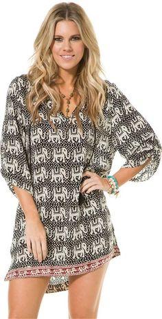 TOLANI SARAH ELEPHANT TUNIC  Womens  Clothing  Dresses | Swell.com