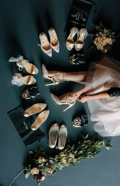 Courtesy of Rescue Flats; Photo: Sophie Mathewson; Wedding reception dance shoes for bridesmaids.