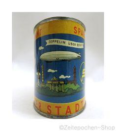 Spardose West Berlin - Zeppelin Motiv - Blechdose