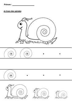 Kindergartengrafiken Spiralen zeichnen #kindergartengrafiken #spiralen #zeichnen Preschool Lessons, Preschool Worksheets, Preschool Activities, Halloween Arts And Crafts, Fall Crafts For Kids, Snail Craft, First Fathers Day Gifts, Teaching Aids, Pre Writing