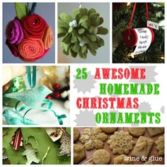 Wine and Glue: 25 Awesome Homemade Christmas Ornaments