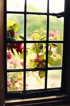 The Cherry Blossom Girl - Bois des Moutiers 02 Looking Out The Window, Through The Looking Glass, Old Windows, Windows And Doors, Cherry Blossom Girl, Smell Of Rain, Old Cottage, White Cottage, Window View