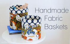 Nalle's House: HANDMADE: FABRIC BASKETS