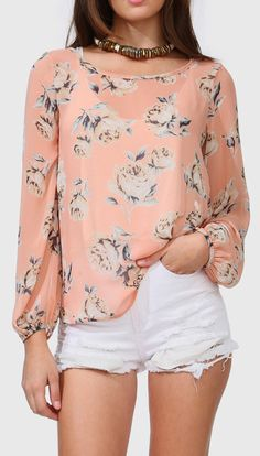 Peonie Blouse. Not the shorts