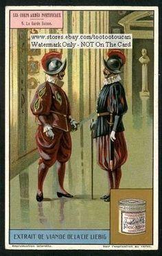 Swiss Guards Vatican City Pope Catholic Rome c1917 Card