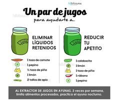 Hábitos Health Coaching | JUGOS DE VERDURAS ELIMINA LÍQUIDOS RETENIDOS/REDUCE APETITO