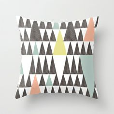 Triangle pattern Throw Pillow by Cecilia Andersson - $20.00