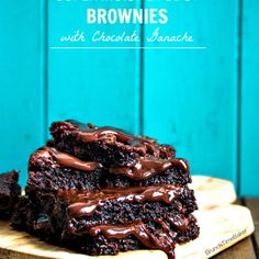 Super Moist & Fudgy Brownies with Chocolate Ganache |