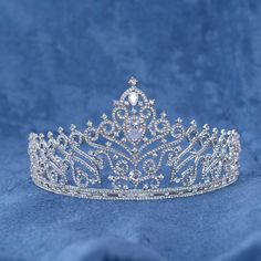 HG624 Bridal Rhinestone Crystal Tiara Crown for Wedding Birthday Pageant  Party Prom Bridal Tiara 7f63e1e24d57