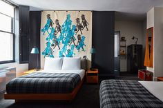 Ace Hotel New York, Revisiting the Original Hip Hotel in NoMad Manhattan Ace Hotel New York, Changing Spaces, Seattle Hotels, Lobby Bar, Hotel Branding, How To Make Bed, Mid Century Furniture, Dream Rooms, Guest Rooms