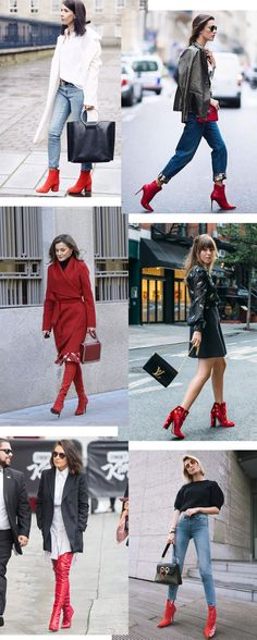 Over The Ankle Boats Outfit Fall 62 New Ideas Casual Winter Outfits, Autumn Fashion Casual, Trendy Outfits, Fall Outfits, Winter Fashion, Fashion Outfits, Red Ankle Boots, Red Booties, Booties Outfit