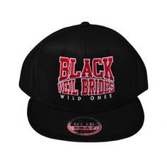 c201e25e3e1f5 Black Veil Brides - Snapback Flat Bill Hat - 125-978 - 125-9782037 - Custom  Embroidered