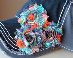 Womens Baseball Hat Shabby Chic Flower flower hat. Shabby Chic Flower Hats Womens Cadet Cap