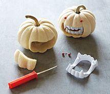Cute pumpkin vampire
