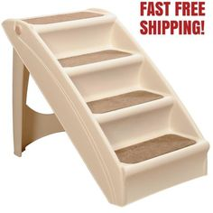 Ramps and Stairs 116389: New Pet Dog Folding Stairs Tall High Bed Car Ladder Ramp Steps Portable -> BUY IT NOW ONLY: $35.8 on eBay!