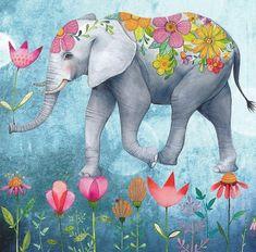 Примерила счастье… А мне идет… Буду носить. Художник-иллюстратор Mila Marquis.. Обсуждение на LiveInternet - Российский Сервис Онлайн-Дневников Whimsical Art, Pet Birds, Elephant Art, Elephant Love, Happy Elephant, Elephant Images, Elephant Illustration, Cute Illustration, Marquis