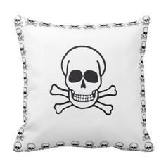 Shop Skull pillow created by littlebells. Skull Pillow, Chicago Illinois, Custom Pillows, Your Design, The Neighbourhood, Goth, Make It Yourself, Cool Stuff, Knitting