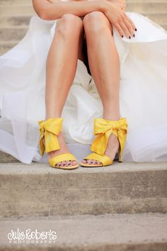 I will be wearing yellow shoes at my wedding.