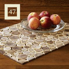 lovely placemats made with tree branches