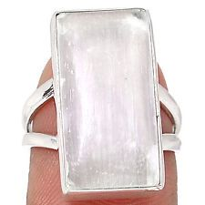 Selenite 925 Sterling Silver Ring Jewelry s.7 SLNR219