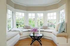 Use a window seat to highlight the architecture of your home just as a large bay window does.