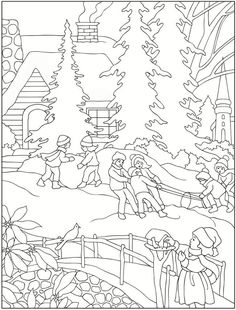 Welcome To Dover Publications Creative Haven Winter Scenes Coloring Book