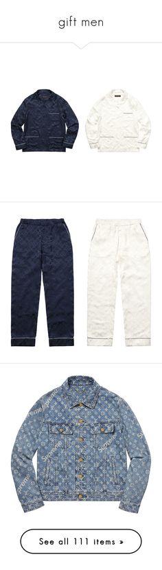 """gift men"" by blenm ❤ liked on Polyvore featuring intimates, sleepwear, pajamas, silk pjs, silk sleepwear, silk sleep wear, silk pajamas, silk pyjamas, silk pj pants and pj pants"