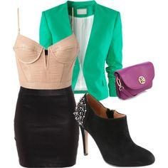 #black #leather #pink #studs #purple #blazer #club #dancing