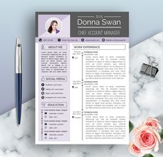 Manager Resume CV Template for Word Financial clerks Teacher Resume Template, Modern Resume Template, Cv Template, Resume Templates, Templates Free, Cv Words, Resume Words, Simple Resume, Creative Resume