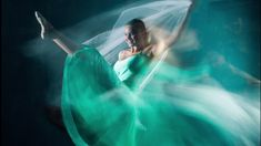Create almost atmospheric photographs of dancers, with a combination of studio lighting, slow shutter speeds, and rear curtain sync.