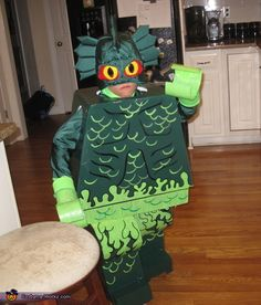 LEGO Swamp Creature - Halloween Costume Contest via @costumeworks