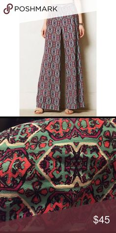 Anthropologie Elevenses South Shore Palazzo Pants Anthropologie Elevenses South Shore Palazzo Pants size 14 Anthropologie Pants Wide Leg