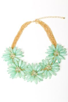 the jade bloom necklace $34.00