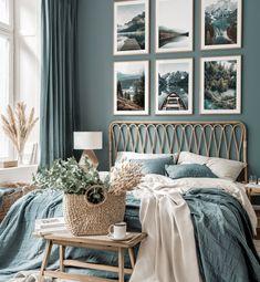Gallery Wall Bedroom, Room Ideas Bedroom, Bedroom Colors, Bedroom Wall, Bedroom Decor, Nature Bedroom, Bedroom Color Schemes, Colour Schemes, Inspiration Wand