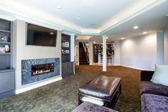 Finished Basement & Theater - traditional - basement - detroit - M.J. Whelan Construction