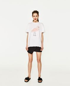Image 1 of FAUX FUR T-SHIRT from Zara