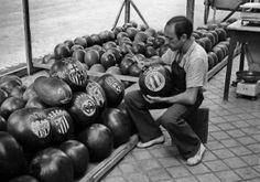 Vendedor de sandías en el Madrid de 1951