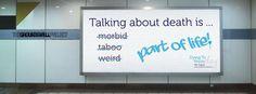Teh Groundswell Project in Engeland, spreken over de dood. In Nederland hebben we doodgewoonbespreekbaar.nl.