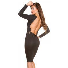 Šaty s holým chrbtom KouCla Black Backless, Boutique, Dresses, Fashion, Vestidos, Moda, Fashion Styles, Dress, Fashion Illustrations