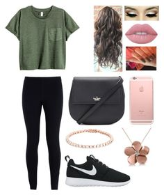 """""""9-10-16  4:12 P.M."""" by blessed-with-beauty-and-rage ❤ liked on Polyvore featuring NIKE, Kate Spade, Lime Crime and Allurez"""