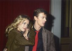 David Bowie and Sydne Rome, 1979