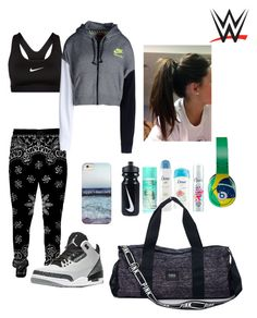 WWE: Gym by mariaxl on Polyvore featuring NIKE, Victoria's Secret PINK, Dove and Retrò